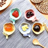 日式糖果色陶瓷花朵筷架小碟調味碟