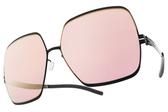 Ic! Berlin太陽眼鏡 ANGELINA T. ROSE BLACK (霧黑-黃水銀紫鏡片) 德國薄鋼工藝 墨鏡 #金橘眼鏡