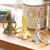 【BlueCat】復古迷你巴黎 艾菲爾鐵塔造型鑰匙圈
