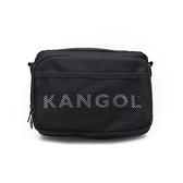 KANGOL LOGO網眼側背包 黑 6125170420