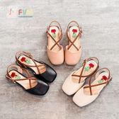 女童鞋子涼鞋新款韓版春夏季中大童小孩公主女孩時尚包頭高跟