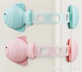 安全鎖-抽屜鎖兒童安全鎖扣柜子門嬰兒抽屜防開防夾手寶寶推拉門冰箱防護  糖糖日系