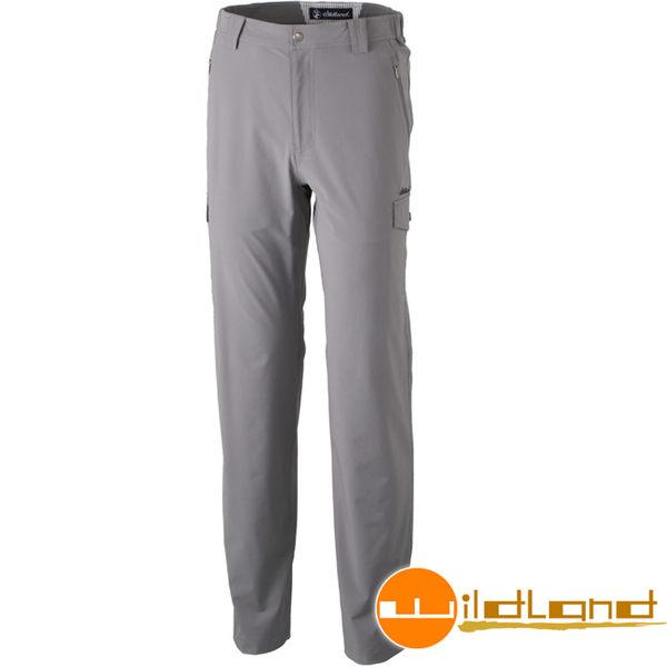 Wildland 荒野 0A31322-92中灰色 男四向彈性貼袋抗UV長褲