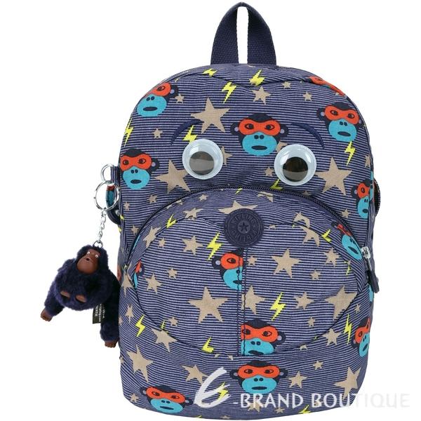 Kipling Faster Kids K00253 眼罩猴印花尼龍兒童後背包(藍色) 1830308-34