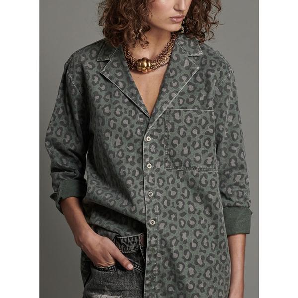 ONETEASPOON   WW  LEOPARD NIGHT CRAWLER DANDY SHIRT  襯衫-豹紋(女)