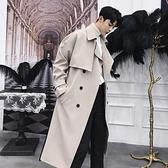 大衣外套男韓版寬鬆過膝日系加厚外套