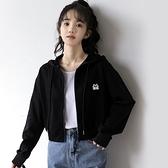 2020秋季新款短衛衣外套女韓版寬鬆春秋薄款連帽學生露臍短款上衣