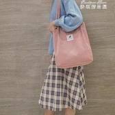 包包女女士韓版學生帆布包復古大容量文藝百搭單肩包ins(快速出貨)