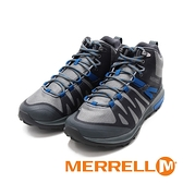 MERRELL(男)ZION FST MID WATERPROOF郊山健行鞋 男鞋-灰藍
