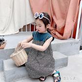 女寶寶夏季雪紡無袖連衣裙女嬰兒女童假兩件韓版洋氣滿版碎花公主背心洋裝裙2558