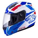 SOL安全帽,SM3,戰將/白藍紅