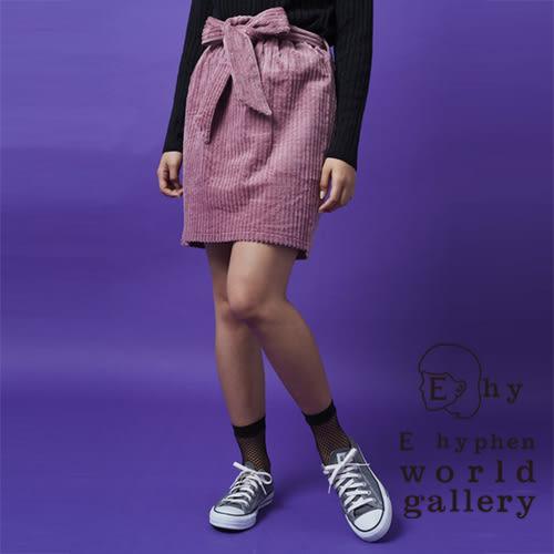 ❖ Hot item ❖ 復古燈芯絨腰綁帶膝上裙 - E hyphen world gallery