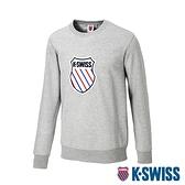 K-SWISS Court Sweaters圓領長袖上衣-男-灰