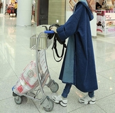 牛仔外套 連帽女春秋新款韓版外衣中長款學生寬鬆潮褂子風衣 - 歐美韓熱銷
