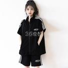 夏季新款短袖短褲運動套裝女學生韓版寬鬆休閒運動服兩件套潮