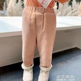 2020冬裝新款女童韓版加絨保暖休閒褲兒童寶寶百搭珊瑚絨加厚長褲 小艾時尚