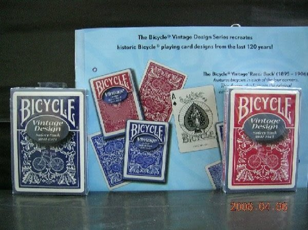 【USPCC撲克館】撲克牌BICYCLE 808 復古 SAFETY