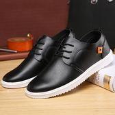百搭潮男鞋子男士休閒鞋休閒皮鞋防水工作板鞋韓版青年鞋   蓓娜衣都