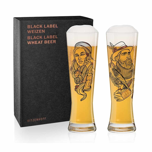 德國 RITZENHOFF BLACK LABEL 黑標小麥啤酒對杯(共3款) 《WUZ屋子》