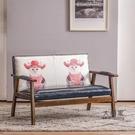 卡座沙發 奶茶店桌椅組合甜品店簡約清新休閒創意卡座椅咖啡廳網紅雙人沙發T
