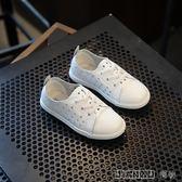板鞋鏤空洞洞小白鞋中大童男童休閒鞋