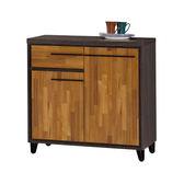 【森可家居】川普2.6尺餐櫃下座 7ZX834-4 收納廚房櫃 中島 碗盤碟櫃 木紋質感 工業風
