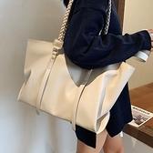 大容量韓版包包2021新款潮秋時尚編織手提女包側背腋下百搭托特包 童趣屋  新品