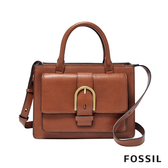 FOSSIL WILEY 真皮復古美型手提側背包-咖啡色 ZB7958200
