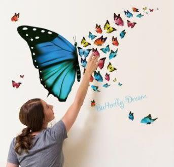 預購-繽紛蝴蝶牆貼清新客廳臥室玄關書房裝飾貼紙畫防水牆貼