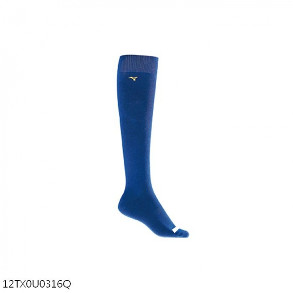Mizuno Sock [12TX0U0316Q] 長統襪 棒壘襪 少年 背號窗 毛巾底 耐磨 運動 20-23cm 藍