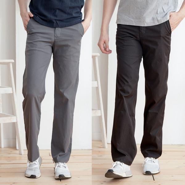 簡約素面舒適休閒褲2色