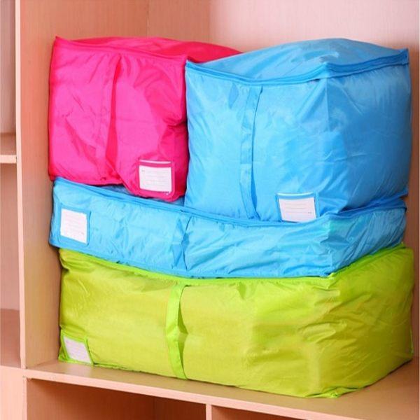 棉被袋 【BNA022】炫彩多色棉被衣物收納袋105L 防潮 防塵 棉被收納 衣物收納 收納箱-123ok
