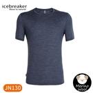 【Icebreaker 男 Cool-Lite 圓領短袖上衣-JN130《亞麻藍》】IB104570/短T/T恤/運動短袖