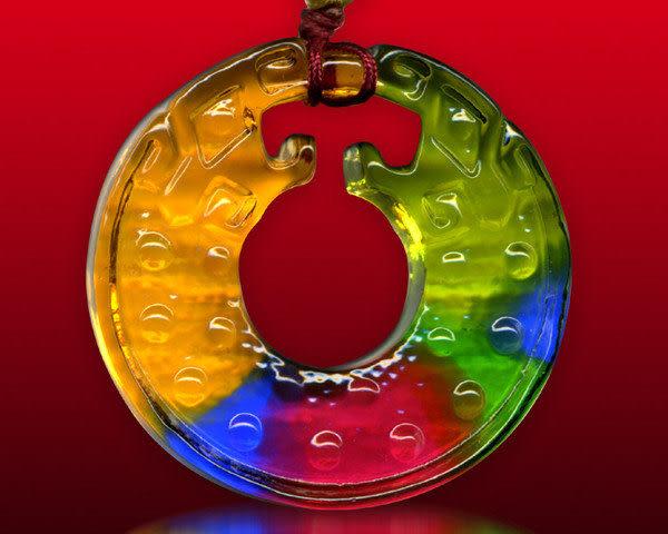 鹿港窯~居家開運水晶琉璃項鍊~古龍◆附精美包裝◆免運費送到家