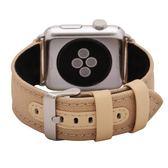 Apple watch真皮尼龍表帶蘋果手表帶iwatch皮質表帶【韓衣舍】