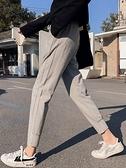 2019新款春秋冬季灰色運動褲女加絨厚收口寬鬆束腳韓版休閒女褲子 陽光好物