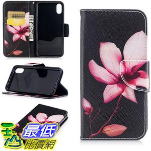 [106美國直購] 手機保護殼 iPhone X Wallet Case,Jessica Premium Slim PU Leather Flip Cover[Stand Feature] Magnetic