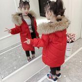 新款小童大童反季兒童裝男童羽絨服中長款女童加厚大毛領寶寶