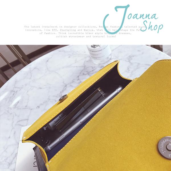 秋冬新款簡約時尚磨砂雙層雙色斜肩包2-Joanna Shop