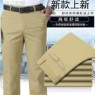 男士長褲夏季薄款寬鬆直筒中老年男裝休閒褲...