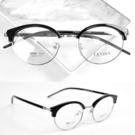 配眼鏡 亮黑眉框小圓鏡框NYA65