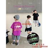 新款韓系童裝款兒童t恤男童短袖半袖男孩上衣潮【齊心88】
