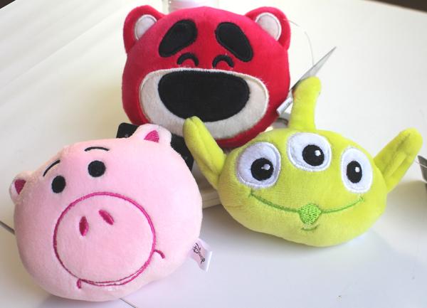 【卡漫城】 玩具總動員 玩偶 吊飾 三選一 ㊣版 toy story 鑰匙圈 絨毛 掛飾 熊抱哥 三眼怪 火腿豬
