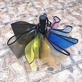 雨傘 彩虹透明雨傘女小清新森系個性情侶學生創意男晴雨傘三折折疊透明