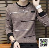 毛衣 男士毛衣潮流秋冬季韓版新款線衣男裝保暖打底針織衫 歐歐流行館