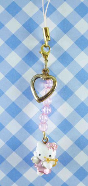 【震撼精品百貨】Hello Kitty 凱蒂貓~限定版手機吊飾-粉天使(豎琴)