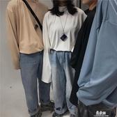 長袖ins潮流復古百搭純色小高領內搭打底衫長袖T恤(快速出貨)