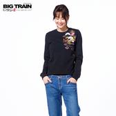 BIG TRAIN 松嵐小金魚羅紋束口長袖-黑-B2513188