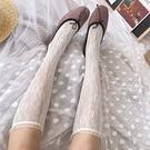 2雙裝 小腿襪日系鏤空網紗蕾絲襪子女透氣蕾絲堆堆襪夏季薄款【慢客生活】