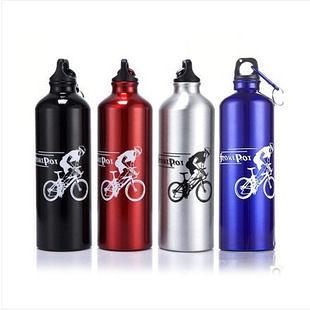 自行車鋁合金水壺 戶外運動水壺 單車配件 附登山扣 700ml